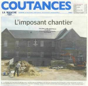 L'imposant chantier - La Manche Libre 20/06/2015, Coutances