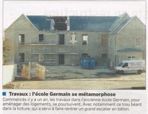L'école Germain se métamorphose - La Manche Libre 21/02/2015, Coutances