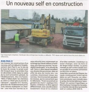 Un nouveau self en construction - La Manche Libre 21/02/2015, Coutances