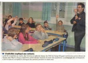 L'indicible expliqué aux enfants - La Manche Libre 21/11/2015, Coutances