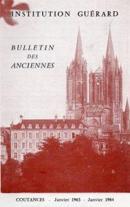 """Couverture du """"Bulletin des Anciennes"""" de l'institution Guérard 1963-1964"""